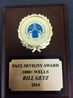 Paul Sevigny Award to Bill Getz